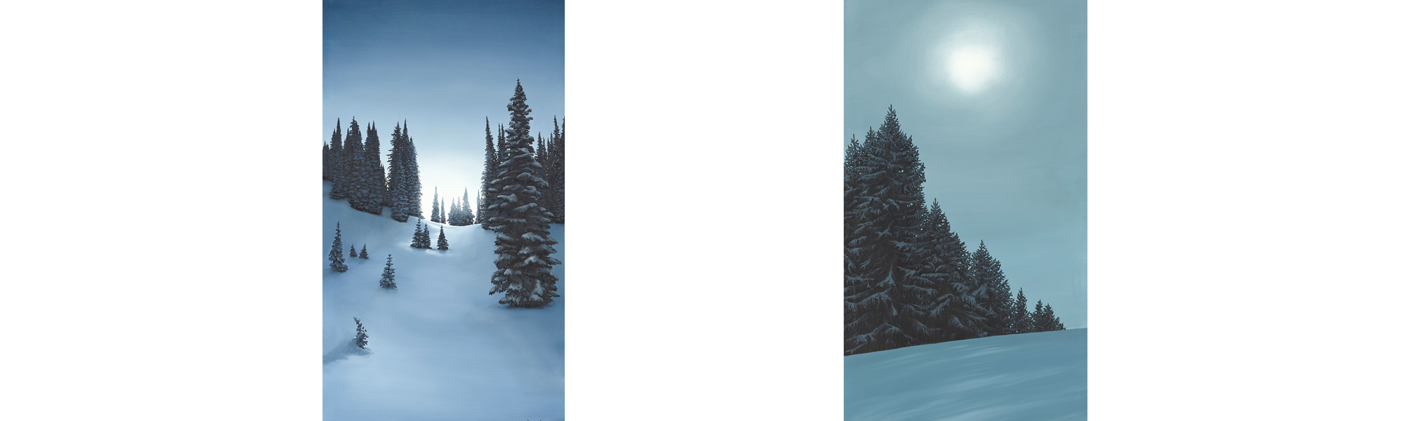 France Canada Attew Painting Landscape artist art ski snowboard mountain winter Snow Alpine Alps montagne Alpes
