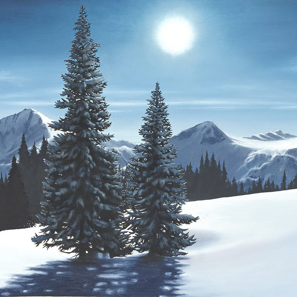 Canada Columbia Attew Painting Landscape artist art ski snowboard mountain winter Snow Alpine Alps kunst berge