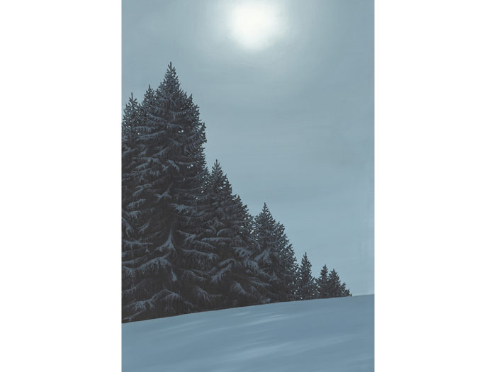 Lesgets France Attew Painting Landscape artist art ski snowboard winter Snow Alpine Alps Pine Montagne Alpes