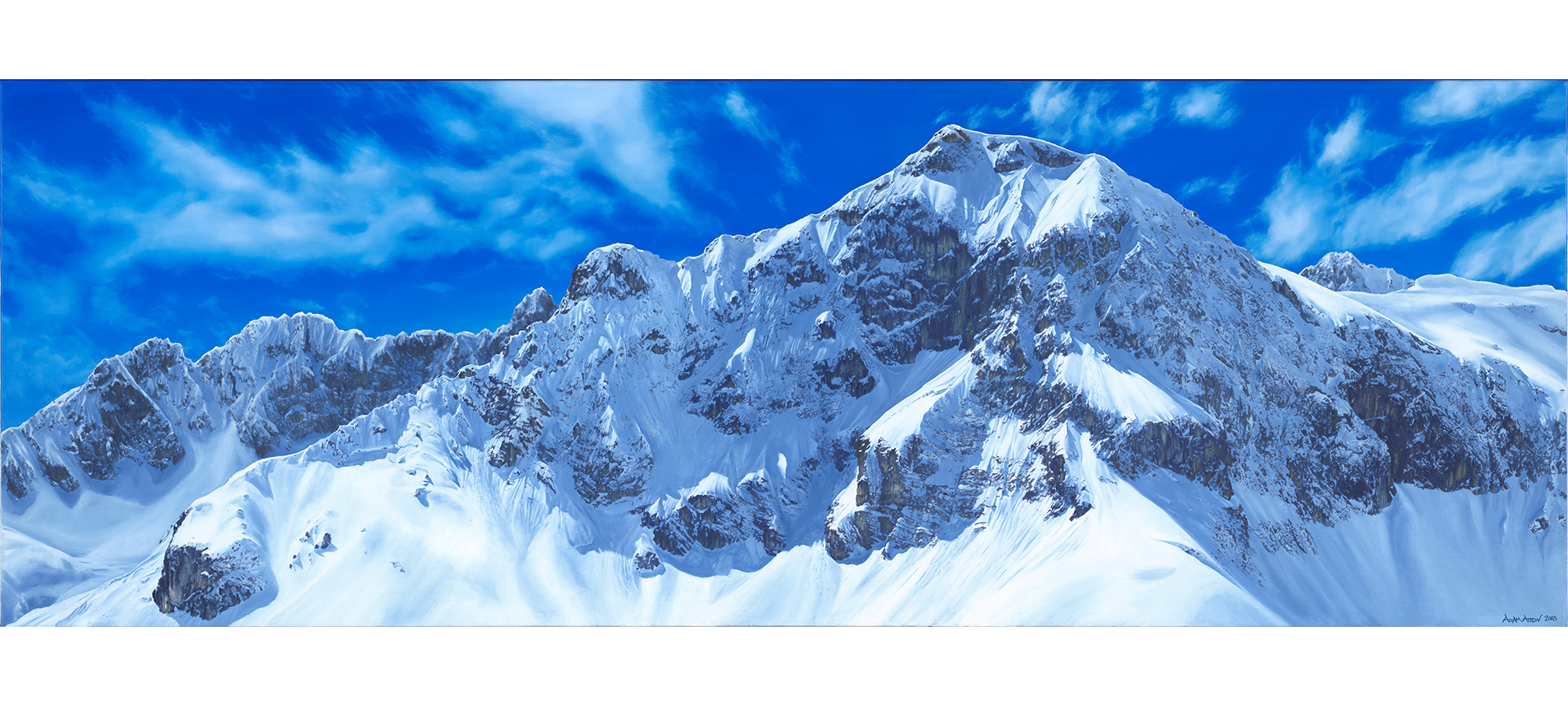 Austria Lech Attew Painting Landscape artist art ski snowboard mountain winter Snow Alpine Alps Montagne Alpes