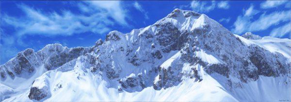 Austria Lech Adam Attew Painting Landscape art Alps ski mountain montagne neige