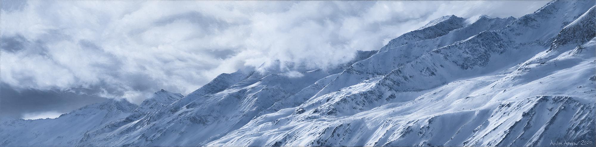 Austria Obergurgl Attew Painting Landscape artist art ski snowboard mountain winter Snow Alpine Alps Montagne Alpes