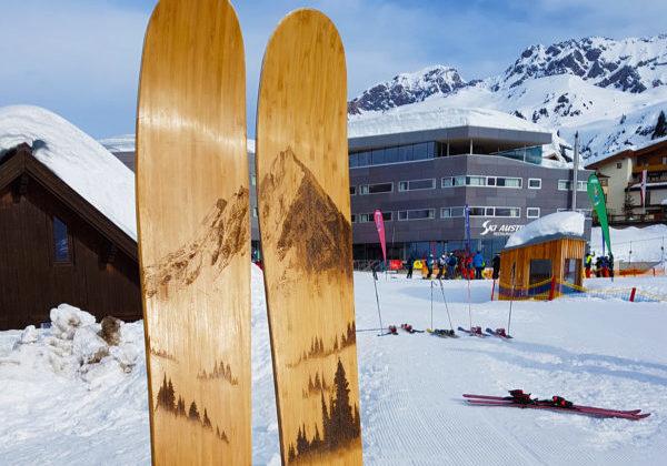 skis handmade wooden freeride freestyle alpine